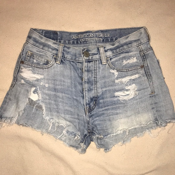 American Eagle Outfitters Pants - Distressed denim shorts